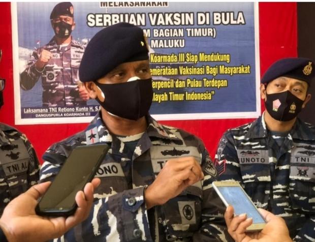 Laksamana Pertama TNI Retiono Kunto Koarmada III Kunjungi  Kabupaten SBT